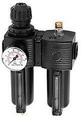 Reduceerventiel met filter en olievernevelaar