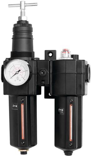 Reduceerventiel met filter en olienevelaar