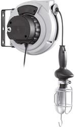 Kabelhaspel met transformator en looplamp