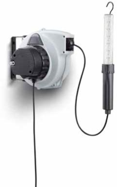Kabelhaspel met transformator en LED lamp