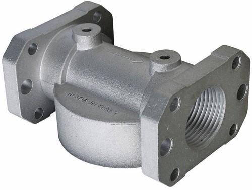 "CimTek filterhouder 200H aluminium 1"" bi dr. geflenst"
