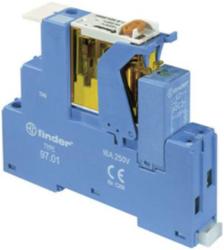 Relais 24 VDC met 2 wisselcontacten met Led + diode + ompoolbeveiligingsdiode