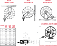 Diesel Slanghaspel XL Heavy Duty - zonder slang -3
