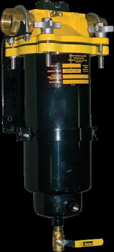Filter/Water separator 14 met DP indicator, kijkglas en drain afsluiter
