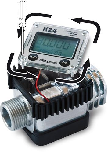 K24 Digitale vloeistofmeter kunststof-2