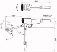 K500  PRESET Digitale handoliemeter vaste uitloop-2