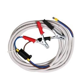 Kabelset met accuklemmen 4 mtr  Panther DC/Viscomat 60/2 12VDC