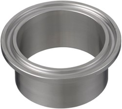 PD Tri Clamp met laseind 12761 DIN 41x1,5/50,5 DN40 RVS 316L (1.4404)