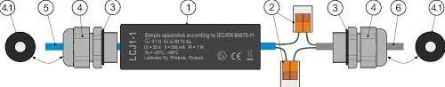 LCJ1-1 kabellasdoos voor 1 sensor -2