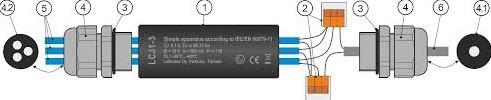 LCJ1-3 kabellasdoos voor 3 sensoren-2