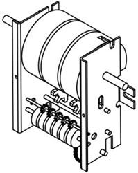 Piusi binnenwerk K44 mechanische meter
