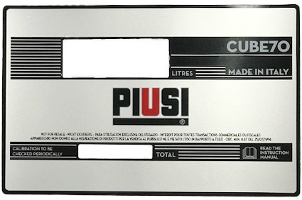 Plakvenster Cube 70 NEW