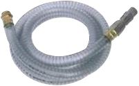 PVC Zuigslang met inwendige spiraal, voetklep en zuigfilter